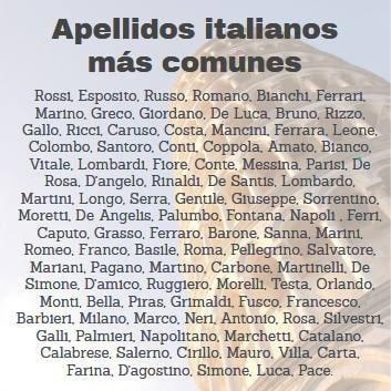 apellidos italianos mas comunes