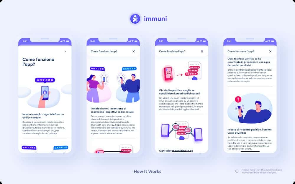 como funciona app inmmuni